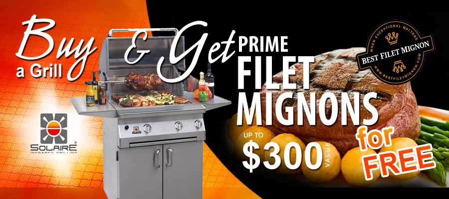 Buy a Solaire Infrared Grill and Get Prime Fillet Mignons