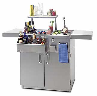 Solaire Bartending Cart