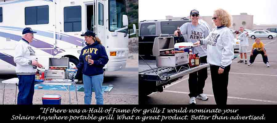Tailgating with Solaire Portable Grills