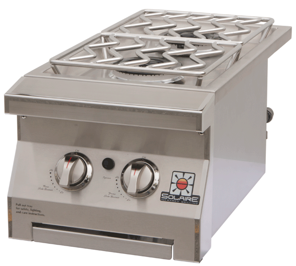 Solaire Gas Grills Dual Side Burner