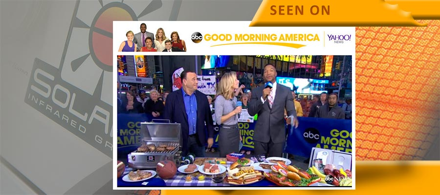 Solaire Portable Grills Featured on Good Morning America